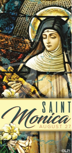 st monica this week we celebrate two saints a mother and son st monica and st augustine as a young christian woman st monica was married to a pagan